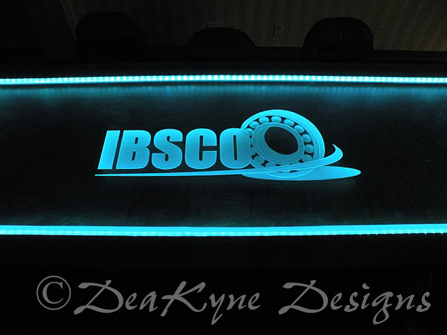 Etched Glass Conference Table - Sculpted, Carved Glass