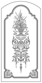 Vicky III san antonio etched glass, austin etched glass