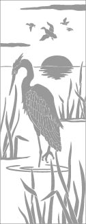 Rectangle Door Stencil Pattern - Waterfowl san antonio etched glass, austin etched glass